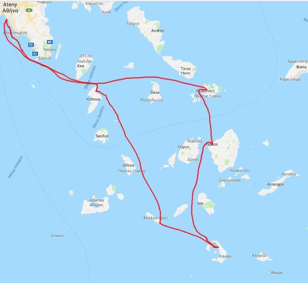 Rejs po Cykladach trasa trzecia